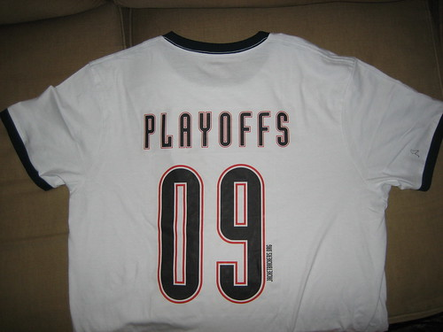 cf7d02b3 Get Your Very Own Jacket Backers Playoffs 09 T-Shirt - Before or After Game  Tomorrow or Email Your Order Today!