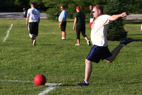 Harvey Ballbanger's Marvelous Mystery Ride kickball team