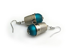 Thimble Pearls (weggart) Tags: recycled handmade kohinoor alternativematerialjewelry weggart