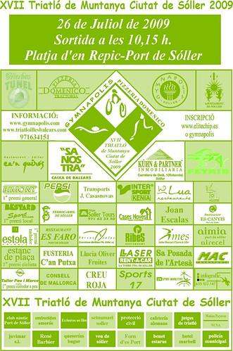 Programa XVII Triatló Ciutat Sóller 2009.