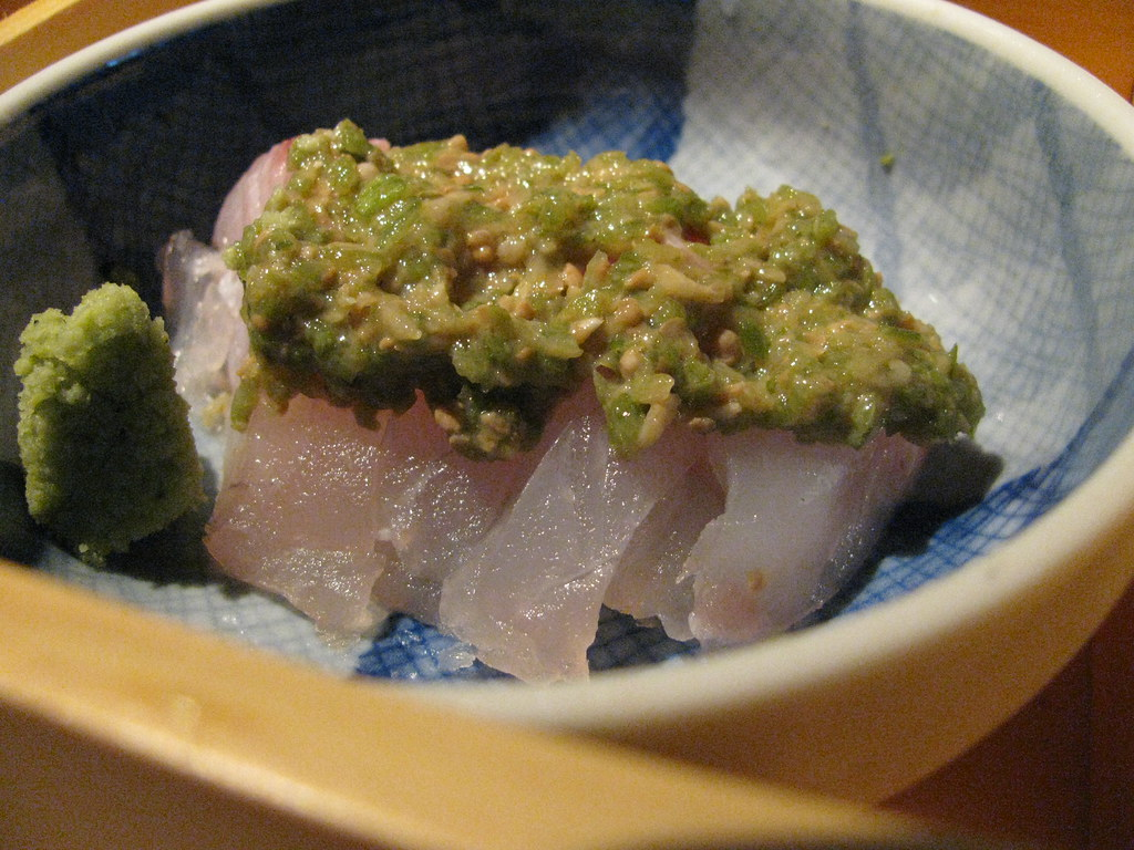 mutton snapper sashimi