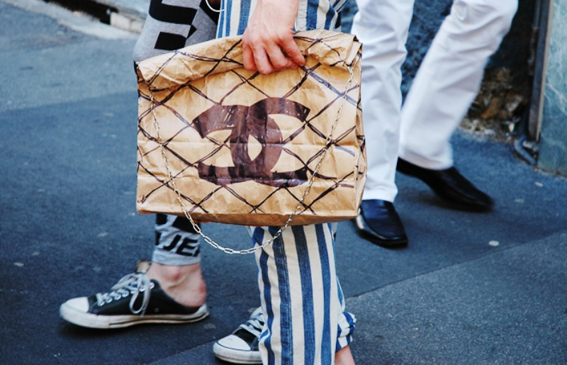 DIY Chanel paper bag