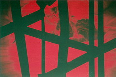 Red Lulu (jasminfish) Tags: bridge brazil cats colors brasil boats island lomo lomography barcos mask ponte es ilha wrecked máscara vilavelha colorido lomografia gambiarra 3ponte experiência morrodomoreno redscale fujisuperiaiso100 praiadoribeiro muitascores holga135bc