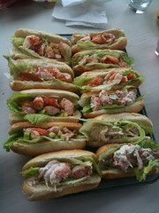 My lobster roll sampler platter!  Four just lo...