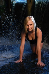 Waterfalls (priitparl) Tags: summer woman sexy water girl beautiful beauty stone female waterfall nikon flash flashlight cls d80 strobist sb900