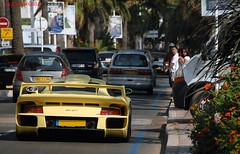 911 GT1 onda Croisette (Julien Rubicondo Photography - julienrubicondo.com) Tags: trees sea summer sun tree cars water car yellow jaune yacht cannes 911 august coche porsche cote yachts t luxury rare 2009 supercar luxe coches aout classe mega supercars croisette dazur gt1
