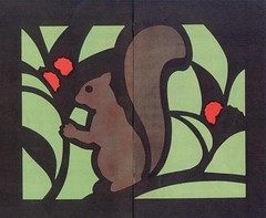 vitraux ecureuil
