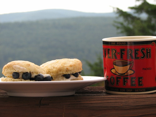 scones on the deck