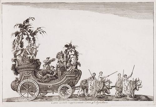 002 Segunda carroza representando a Ceres diosa de la agricultura- Currus triumphales ad adventum clarissimorum Moschoviae 1782