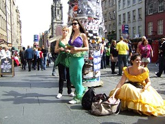 green fairy little mermaid and belle having a ball on the Mile - by byronv2