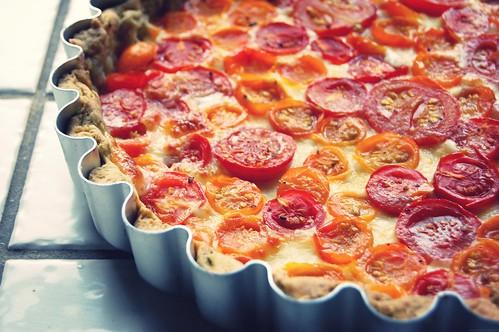 tomato mozzarella tart 1