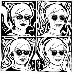 Andy Warhol Mazes Portrait
