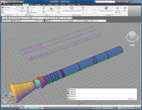 Work in Progress of Rocket Engine in AutoCAD 2010 #2 by you.