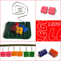 Lego (OfficineCreative) Tags: cute handmade brooch polymerclay fimo accessories earrings cufflinks spilla cernit gemelli orecchini portafoto officinecreative