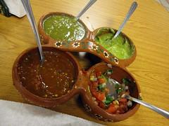 celia's carniceria - salsa tray