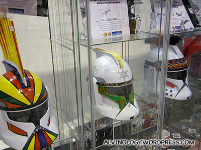 The legion organised a helmet decoration contest