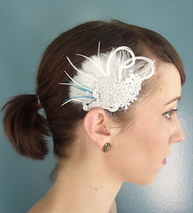 lace and feather fascinator (Birdcage Veils and Wedding Accessories by Tessa Ki) Tags: flowers wedding vintage silver gold necklace veil crystal pearls retro chain etsy jewelery bridal veils specialoccasion feahters lacenecklace birdcageveil etsyweddingteam birdcageveils russianveil frenchveil russianveiling frenchveiling