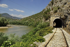 Nestos River /   (Zopidis Lefteris) Tags: train river village tracks hellas railway tunnel trains greece rails railways allrightsreserved railroads railroadtracks ose hellenic nestos thrace lefteris eleftherios  xanthi thraki galani zop       zopidis  greektrains   toxotes leyteris                 toksotes       toxotai photographerczopidislefteris c heliographygroup heliographygroupmember photographerzopidislefteris  allphotosarecopyrightedbyzopidislefteris  copyright