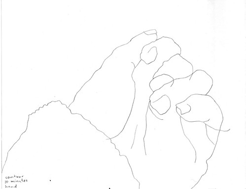 Contour drawing: hand