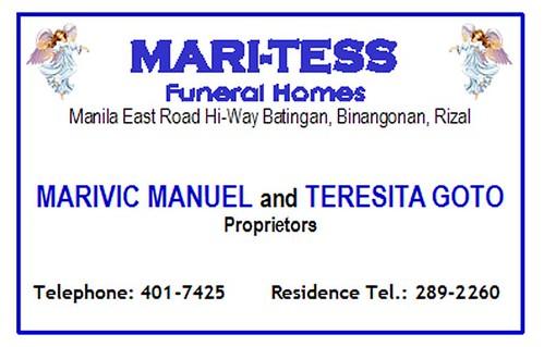 mari-tess funeral