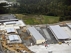 Construction nears completion on vehicle maintenance center at Grafenwohr (USACE Europe District) Tags: aerial ebg usarmycorpsofengineers grafenwoehr grafenwohr militaryconstruction milcon europedistrict efficientbasinggrafenwoehr