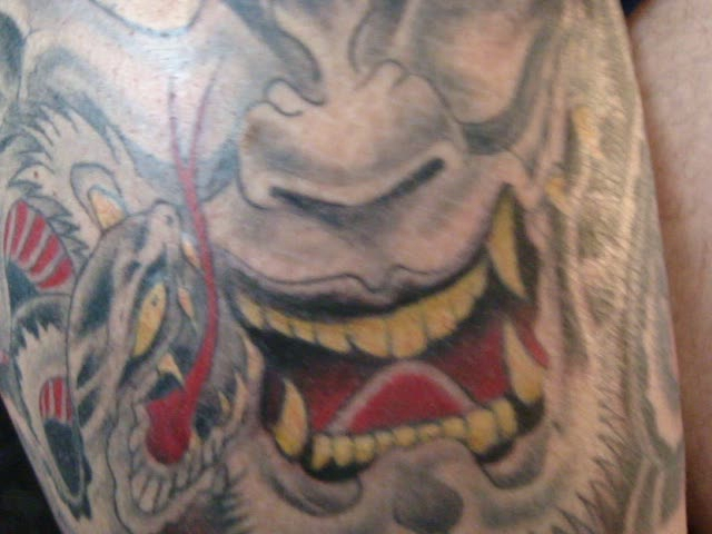 hannya mask tattoo. hannya mask tattoo video