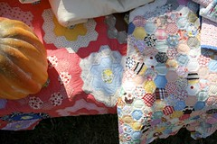 candy colored quilts (contentedsparrow{megan}) Tags: market antiques fallfair craftshow crafters antiqueshow artisanmarket vintagequilts countrylivingmagazine countrylivingfair2009