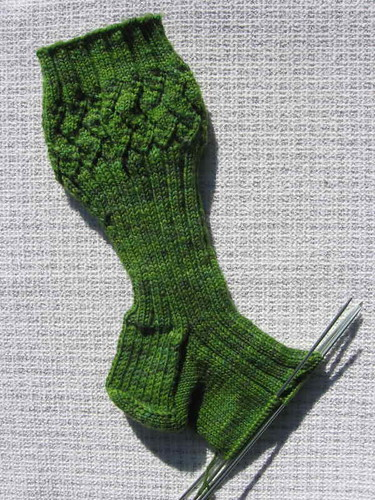 Horcrux sock in progress