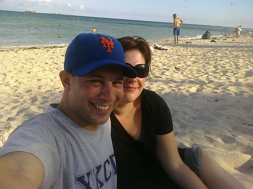 Me and @thisisnotapril in Miami Beach.  Next stop, Land Shark Stadium.