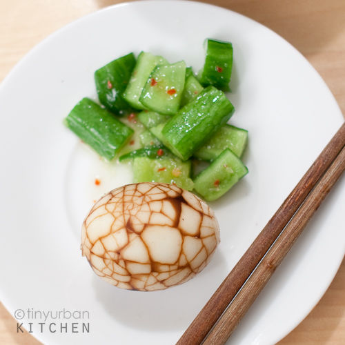 Tea Egg and Cucumber Salad