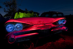 The Stink Eye (Lost America) Tags: lightpainting abandoned night fullmoon dodge junkyard 1959 nocturnes thebigm