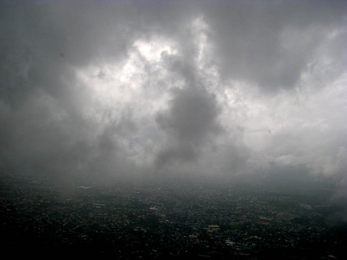 Typhoon clouds over Manila