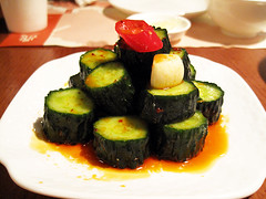 spicy cucumbers @ din tai fung