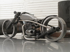 "Welded Metal Bike Sculpture 96 ""Bonny goes Boom"""