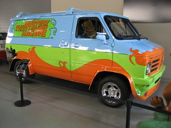 Not a 1963 Ford Econoline Van - The Mystery Machine (pr0digie) Tags: ford movie studio paint tour wb chevy vip scoobydoo van 1970s custom prop warnerbros backlot themysterymachine econoline