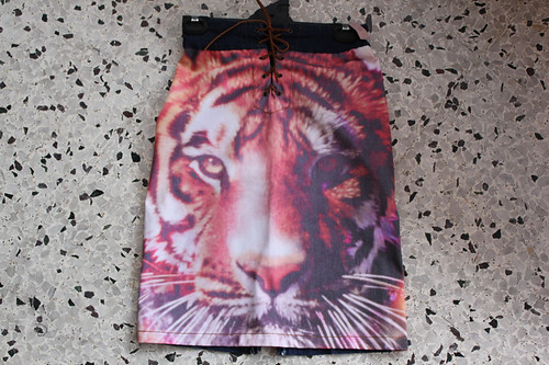 Christopher Kane-look tiger skirt :) $5