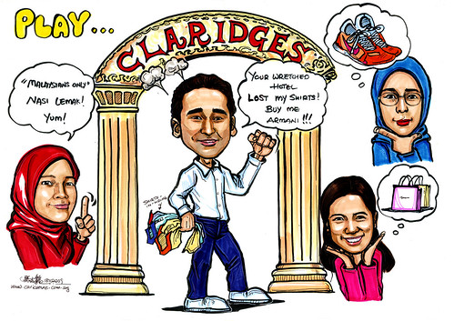 Group caricatures for Morgan Stanley Part 3 - A4