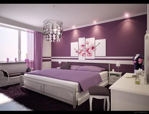 Wohnzimmer ideen wandgestaltung lila  De.pumpink.com | Schlafzimmer Buche Welche Wandfarbe