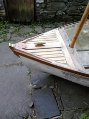 10ft Dinghy foredeck (gondolier88) Tags: wood boat wooden oak traditional cleat mahogany dinghy grp planking iroko lugsail traditionaldinghy