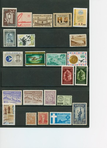 Paises De America. sellos mint de paises de america variado