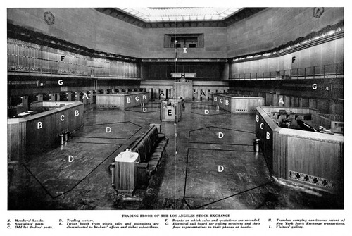 Los Angeles Stock Exchange Building Trading Floor