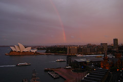 Sydney (medXtreme) Tags: rainbow sydney australia newsouthwales australien acg sydneyharbour regenbogen sydneyharbourbridge sydneyopera lightiq