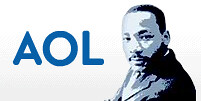 Martin Luther King Day Logo '09 AOL