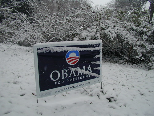 Snow on Inauguration Day