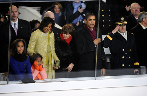 Inauguration Day 2009: The Obamas on the reviewing stand by USA TODAY.