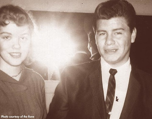Donna Fischer and Ritchie Valens. (Photo courtesy of The Rave) Then