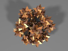 dodecahedral symmetry (fdecomite) Tags: compound geometry 5 five math fractal dodecahedron povray tetrahedra