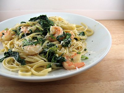 Shrimp Florentine