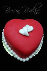 Kırmızı Kalp Pasta