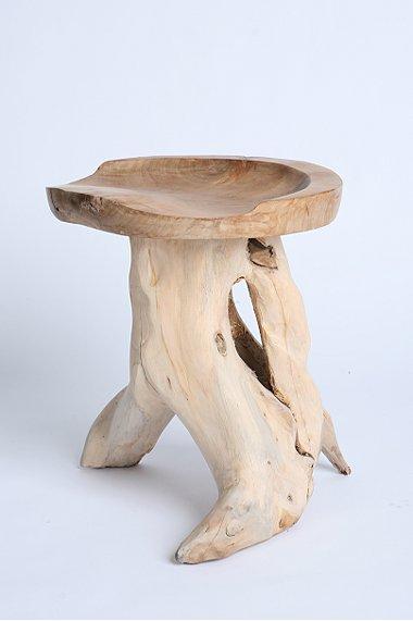 uo teakwood root stool